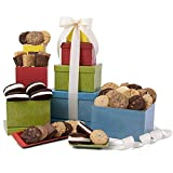 GourmetGiftBaskets.com Baked Goods Gift Tower, Gourmet Gift Baskets Prime Delivery, Bakery Gift,...