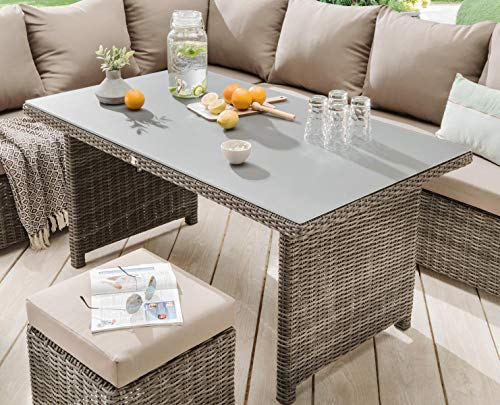 Destiny Loungegruppe Bergamo Eckgruppe Mixed Grey Lounge Garnitur Dininglounge - 5