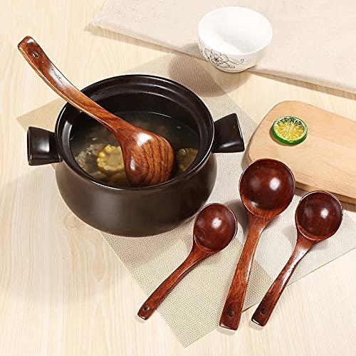 AGAN 1PC Estilo japonés Cuchara de Madera Natural de la Cuchara de Sopa de Cocina de Madera Cuchara Cucharada Catering Vajilla Utensilios de Cocina de Madera MF 002
