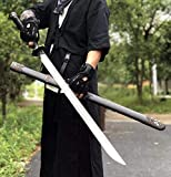 Qing Sword,Forged High Carbon Steel Blade,Alloy Fittings,Full Tang,Battle Ready