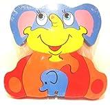 Juego de 5 Puzzles de Elefante de Madera con Elefante para bebé