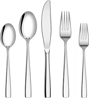 Sponsored Ad - Flatware Silverware Cutlery Set, 30-Piece Stainless Steel Utensils Service for 6, Include Knife/Fork/Spoon-...