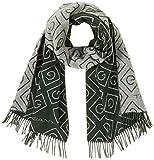 Gant D1. Icon G Wool Scarf Bufanda de moda, Verde Tartan, One Size para Mujer