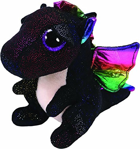 TY 36897 Anora, draak zwart 15 cm, met glitterogen, Beanie Boo's