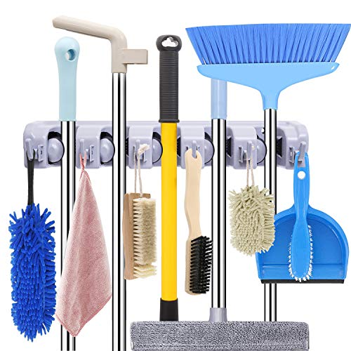 Mop and Broom Holder Wall Mount Heavy Duty Broom Holder