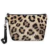 Woisttop Bolsas de cosméticos con estampado de leopardo, para mujeres, niños, bolsa de maquillaje con cremallera, bolsa de almacenamiento