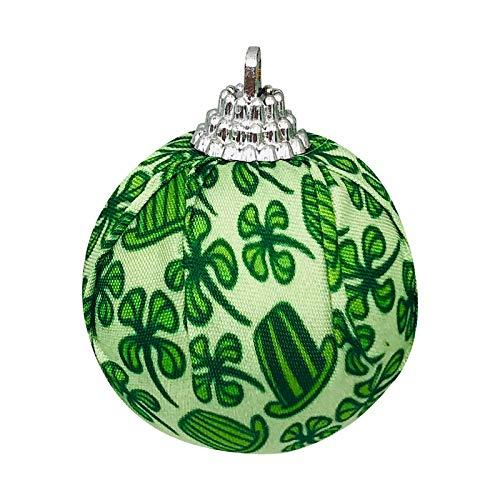 Moent Bola de tela para fiesta del da de San Patricio, trbol de cuatro hojas de trbol de Irlanda, adorno de fiesta de primavera de ao nuevo (verde, 1 unidad)