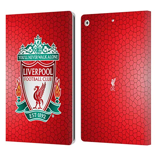 Head Case Designs Officially Licensed Liverpool Football Club Red Pixel 1 Crest 2 PU Leather Book Wallet Case Cover Compatible With Apple iPad 10.2 (2019)/(2020)