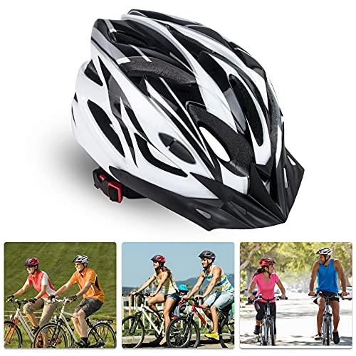 Sunrimoon Adult Bike Helmet Men Women - Adjustable Size Dial Bicycle Helmet with Adjustable Visor, Rode Bike Helmet with Reflective Safety Ribbon