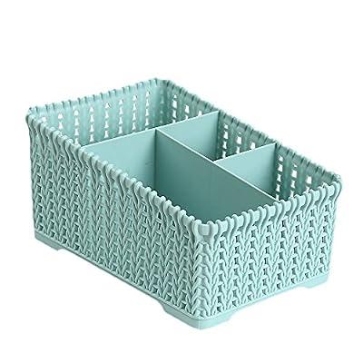 QIUUE Bathroom Cosmetic Storage Basket Office P...