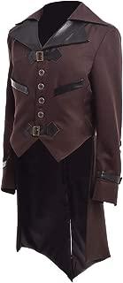 Mens Gothic Tailcoat Victorian Steampunk VTG Coat Jacket Halloween Costume