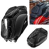 Bolsa de Tanque de la Motocicleta Oxford Alforja Magnética con Ventana Grande 48.5 * 37 cm Universal Asiento Trasero Bolsa de Sillín Herramienta de Viaje Eequipaje de la Cola