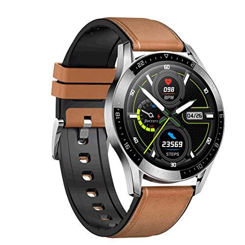 Jorwell 2020 Nueva Pulsera De Reloj Inteligente De 1.3 Pulgadas, Llamada Bluetooth, Monitoreo del Sueño Y Diversas Lectura De Datos Deportivos,Marrón