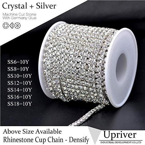 PENVEAT Rotolo da 9,1 m di Catenella con Cristalli di Strass SS16 (3,8-4,0 mm) per Borse, Design SS16