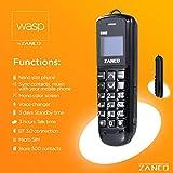 Phones 4u Ltd Zanco WASP Handy, klein & dünn, für SMS, Musik, mit Tasten, MP3, Bluetooth,ohne SIM-Lock, CE-, RoHS-zertifiziert, WCDMA und GSM