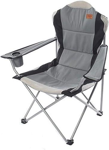 Limeinimukete Chaise de Camping Pliante Portable, Chaise Portable légère pour la randonnée en Camping pêche à la Plage Pique-Nique Parti Jardinage (Couleur   gris)
