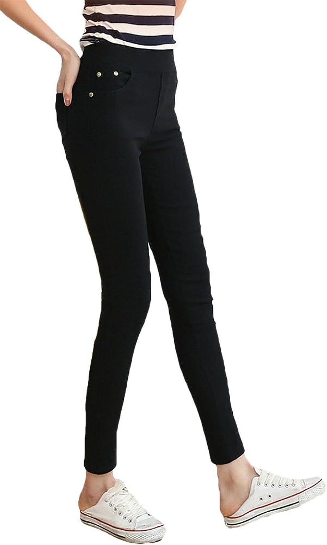 EzShe Women's Winter Warm Stretch Velvet Tights Fleece Jegging Pants