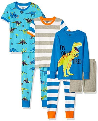 Spotted Zebra Boys Kids Snug Fit Cotton Pajamas Sleepwear Sets 6 Piece Dinoland X Small product image