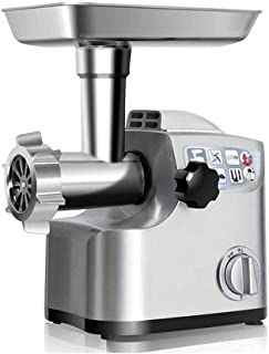 Cut Electric Meat Grinder, 3 Stainless Steel Grinding Plates for Fine, Medium Coarse, 3 Sausage Stuffers, Make Custom Hamb...