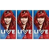 Schwarzkopf Live Colour Intense Coloration Hair Coloration, Tinte de pelo rojo permanente, 35 tonos reales