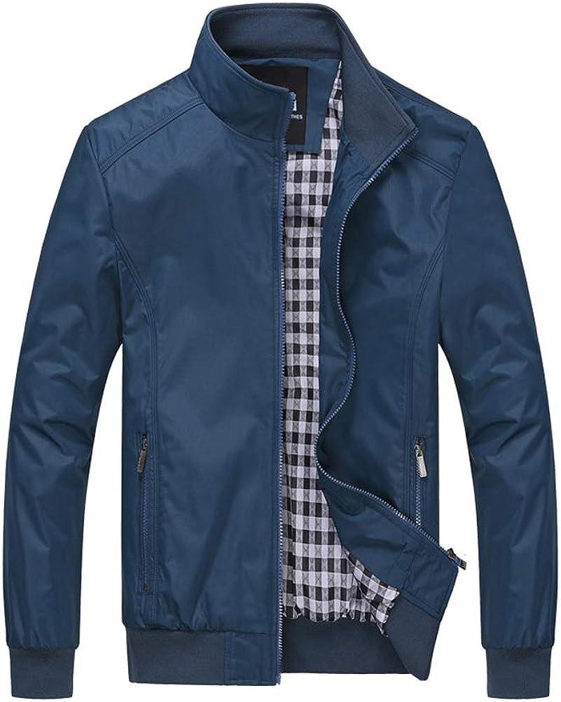PASOK Men's Max 57% OFF Lightweight Softshell Windbrea Outerwear Be super welcome Zipper Coat