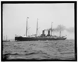 Photo: SS La Gascogne,ocean liners,boats,ships,vessels,Detroit Publishing Company,1890