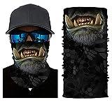 Pañuelo 3D para el cuello, la cabeza, ciclismo, multifunción, cinta para la frente, resistente al viento, para moto, esquí, snowboard, pasamontañas, Halloween, Hombre, S75