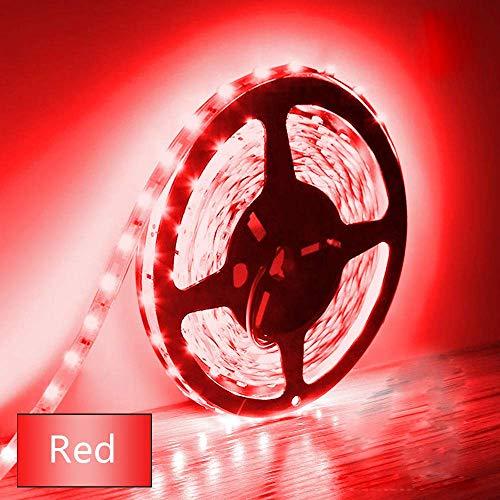 BOGAO 5M Luces de tira LED 300 Unidades SMD 5630 12 V Luz de tira de bajo voltaje No impermeable IP20 Cinta de LED Iluminación de cinta roja para gabinetes de cocina para el hogar y más