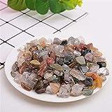 DANHUI 50g-100g Cuarzo Natural Cristal Blanco Mini Roca Mineral espécimen decoración del hogar Colorido para Acuario Piedra Moda Simple (Color : Colour Crystal, Size : 50g)