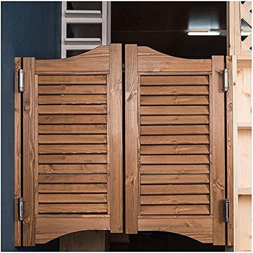 Interior Doors Swinging Cafe Doors, Mediterranean Solid Wood Cowboy Door Partition Door Bar Kitchen Half Waist Door, Multi-sizes, Customizable, Fits Any 80-110 cm Door Opening Sizes Home Accessories