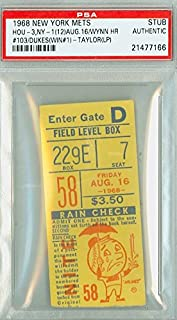 1968 New York Mets Ticket Stub vs Houston Astros Tom Dukes Career Win #1 Jimmy Wynn HR #103 - August 16, 1968 [[Grades Excellent]] by Mickeys Cards