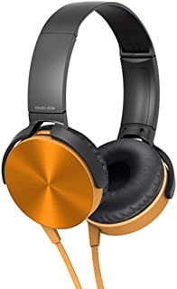 Perfk 3.5mm Over-Ear Headphones with Microphone, Hi-Fi Stereo Foldable Headset for Laptop Mobile Phone Tablets - Golden