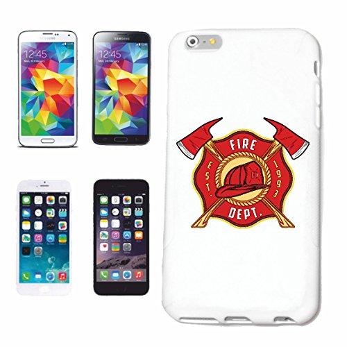 Helene Telefoonhoesje compatibel met Samsung Galaxy S8 FIRE Department badge brandweerbadge met helm en bijl, vuurfighter, los te maken vrij wilde brandweer