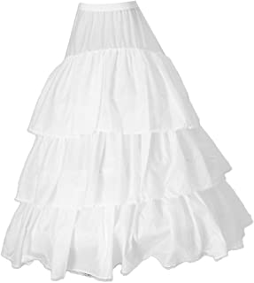 MagiDeal Women's A-line 3-Hoop Petticoat Underskirt Crinoline for Wedding Dress Train