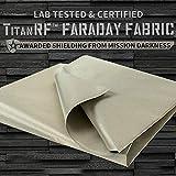 New! TitanRF Faraday Fabric 44' x 36' + Extra 36' TitanRF Tape! Military Grade Certified Material Blocks RF Signals (WiFi, Cell, Bluetooth, RFID, EMF Radiation Shielding)