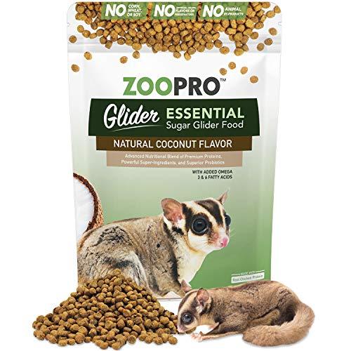 Glider Essential | Coconut Flavor | Chicken Protein | Zero Corn, Soy, or Fillers | Sugar Glider Food