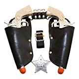 Play Kreative Western Toy Cowboy Gun and Holster Set with Sheriff Badge and Belt