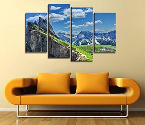 ANTAIBM® Kinderzimmer Schlafzimmer dekorative 4 Malerei Holzrahmen - verschiedene Größen - verschiedene Stile4 Panel Schöne Landschaft in Italien Modern für Wohnkultur Gemälde auf Leinwand Wandkunst f