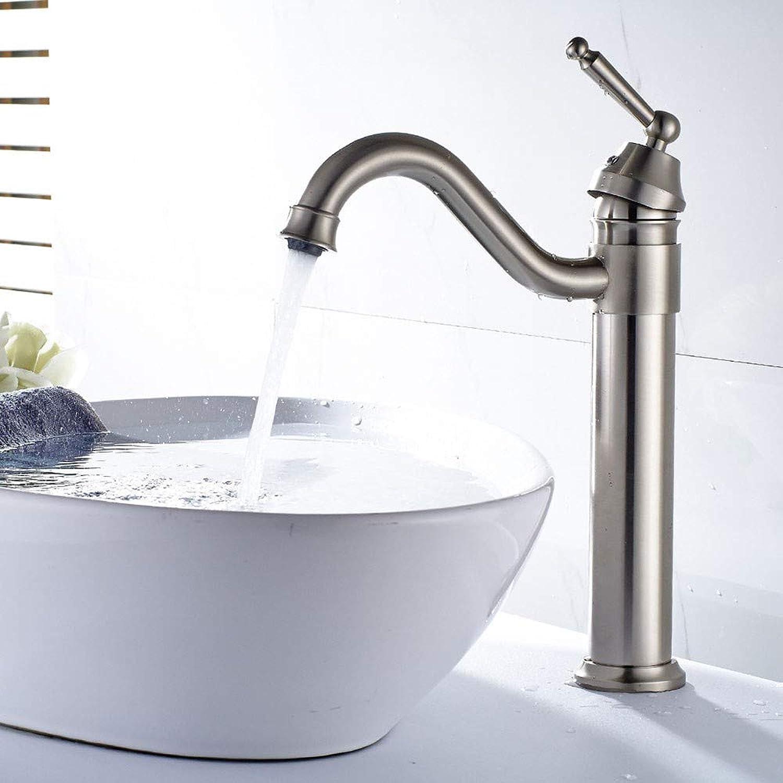 Alles Kupfer und Nickel gebürstet Bad Becken Wasserhahn Ellenbogen Wasser kann den oben genannten Gegenbecken heies und kaltes Wasser Mischer drehen