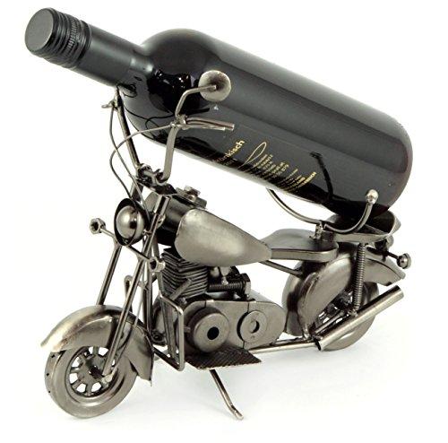 Flaschenhalter Chopper Flaschenständer Motorrad aus Metall