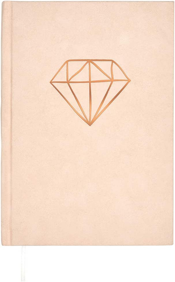 Velvet Notebook Diamond 256 Pages with DIN Max 43% OFF Diary A5 Ranking TOP10 Ros Grid Dot