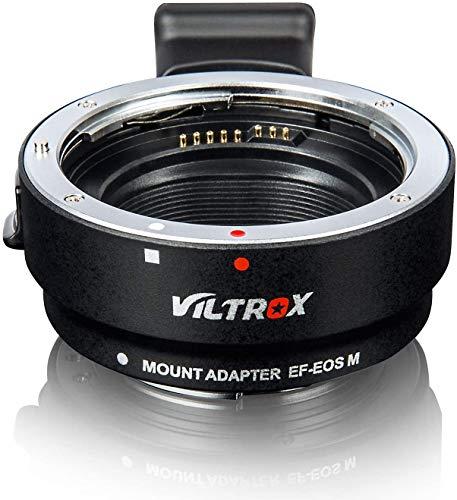 VILTROX EF-EOS M Elektronisch Autofokus Objektiv-Adapter-Konverter für Canon EF/EF-S Objektiv zu Canon EOS-M (EF-M Mount) Spiegellose-Kameras M1 M2 M3 M5 M6 M10 M50 M100