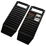 DURABLE CONSTRUCTION- This set of emergency traction mats are made of tough polypropylene. This gives the treads strength and stability to stand up to use in mud, snow, ice and sand. The deep grooves ensure maximum grip. MULTIPURPOSE- These treads fe...