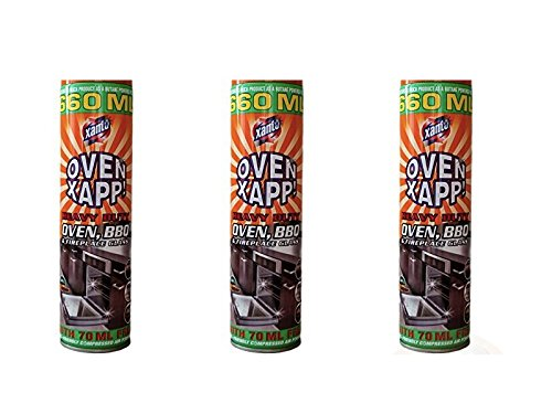 3 x Cans van Heavy Duty Xanto Oven Cleaner BBQ Cleaner Open haard Cleaner Spray 660ML