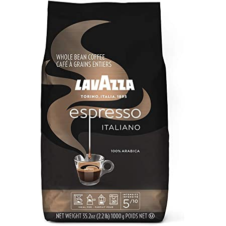 Lavazza Espresso Italiano Whole Bean Coffee Blend, Medium Roast, 2.2 Pound Bag (Packaging May Vary) Authentic Italian, Blended And Roasted in Italy, Non GMO, 100% Arabica, Rich bodied