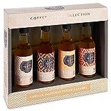 Sirop de café collection Caramel, Noisette, Vanille et Caramel Lot de 4 sirops aromatisés 85 ml