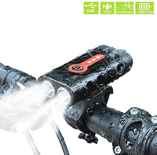 LTLT 2400 Lumen Bike Light Set L2 Fahrradlampe USB wiederaufladbar Wasserdicht Fahrradlampe MTB Scheinwerfer LED Rücklicht vorne