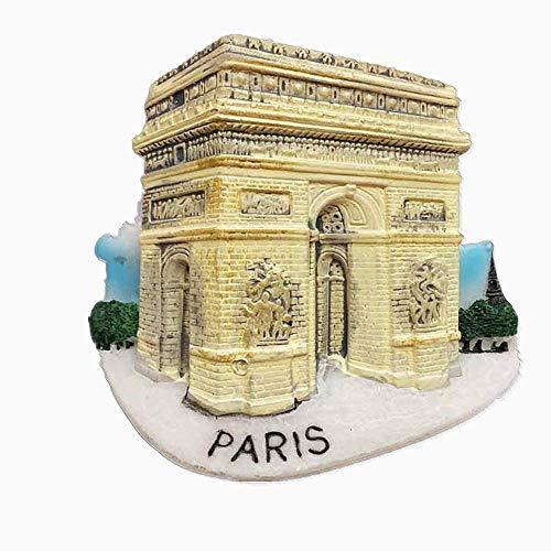 MUYU Magnet Aimant de réfrigérateur 3D Arc de Triomphe Charles de Gaulle carré Paris France Souvenir de Voyage Collection Cadeau décoration Maison et Cuisine