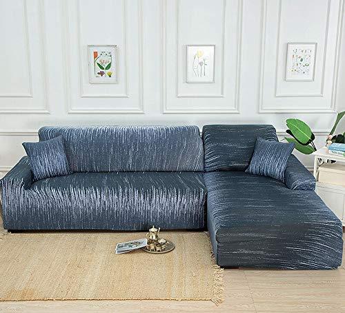 WXQY Funda de sofá de Esquina geométrica para Sala de Estar Funda de sofá elástica Funda de sofá Toalla de sofá elástica Funda de sofá en Forma de L A10 3 plazas