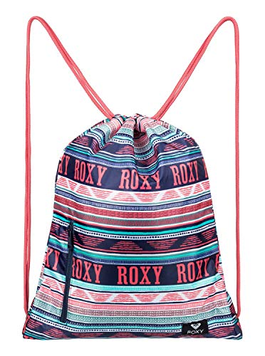 Roxy Light As A Feather Mochila Pequeña para Gym, Mujer, Verde/Blanco (Bright White AX Boheme Border), 14.5 l